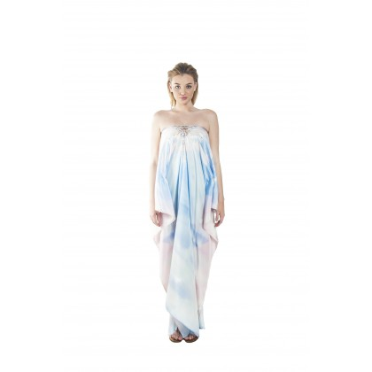 Breeze/Hazed (Max) Long Kaftan with Tie Lace Up (LKPEMAA020)