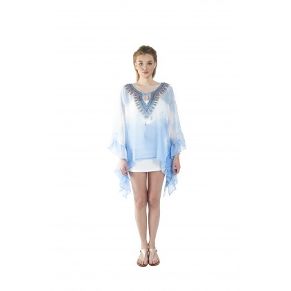 Breeze/Hazed (Min) Bubble Kaftan with Lace (BKPEMIA024)