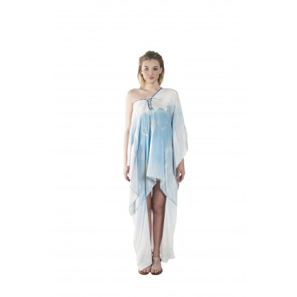 Nature/Hazed (Min) Hilo Kaftan with Tie Lace Up (HLKPEMIE021)