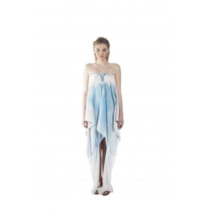 Nature/Hazed (Min) Hilo Kaftan with Tie Lace Up (HLKPEMIE021)