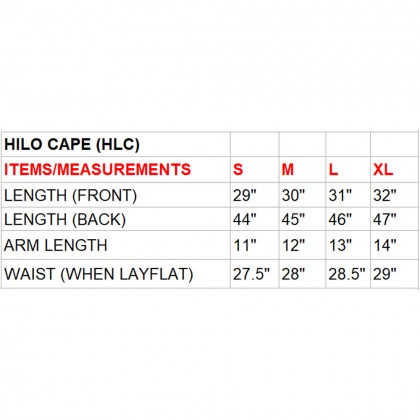 Cascade/Hazed (Max) Hilo Cape (HLCPEMAW019)