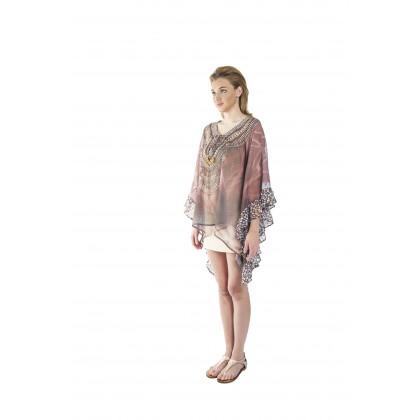 Nature/Vivid (Min) Bubble Kaftan with Lace (BKOMIE05)
