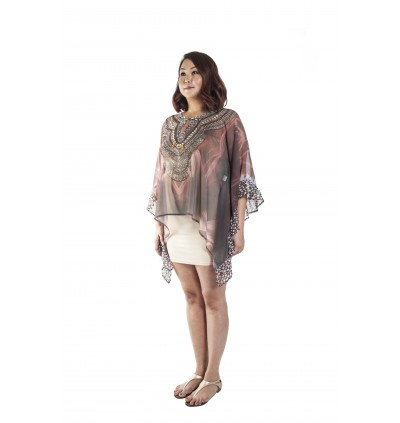 Nature/Vivid (Min) Bubble Kaftan with Lace (BKOMIE05)