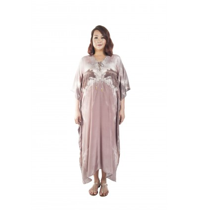Inferno/Raw (Max) Long Kaftan with Tie Lace Up (LKNEMAF010)