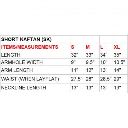 Cascade/Raw (Max) Short Kaftan with Tie Lace (TKNEMAW011)