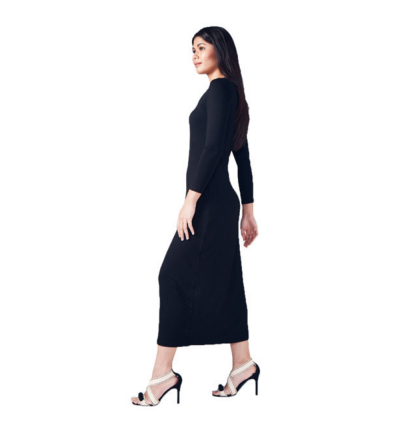 Long Sleeve Round Neck Inner Long Dress (2 colours available)