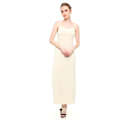 Sleeveless Spaghetti Strap Inner Long Dress (2 colours available)