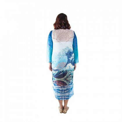 Chiffon Long Outwear Blue/Multi (LOOMAW03)