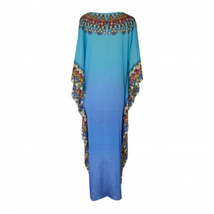 Long Gown Kaftan Blue/Multi (LG1805)